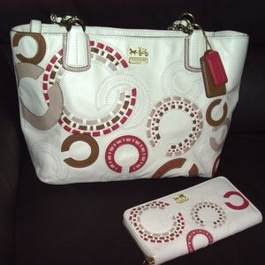 Coach Purse & Wallet Set: Whipstitched Madison